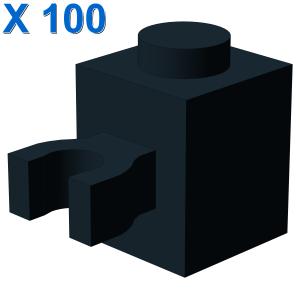 BRICK 1X1 W/HOLDER, H0RIZONTAL X 100