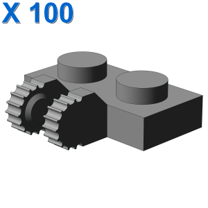 PLATE 1X2 W/FORK, VERTICAL X 100