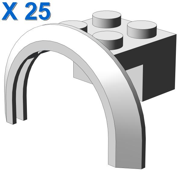 BRICK 2X4X1 W. SCREEN X 25