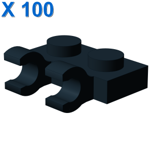 PLATE 1X2 W/HOLDER, VERTICAL X 100