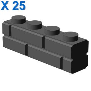 PROFILE BRICK 1x4 SINGLE GRO. X 25