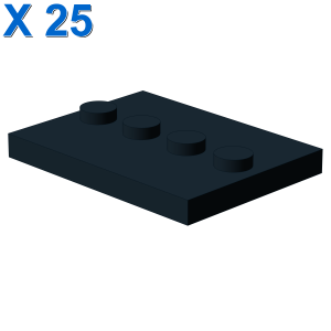 PLATE 3X4 WITH 4 KNOBS X 25