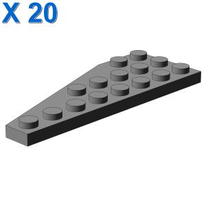 Lego 4 Light Bluish Gray 1x4x1 wall panel rounded corners NEW
