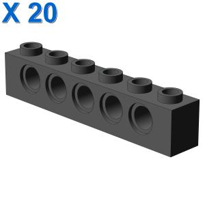 TECHNIC BRICK 1X6, Ø4,9 X 20