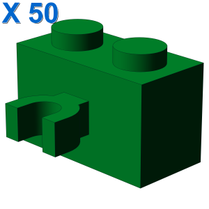 BRICK 1X2 W. HORIZONTAL HOLDER X 50