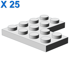 CORNER PLATE 2X4X4 X 25