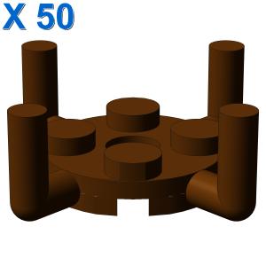 PLATE ROUND 2X2 W. VER.SHAFT X 50