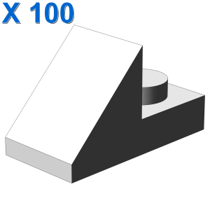 ROOF TILE 1X2 45° W 1/3 PLATE X 100