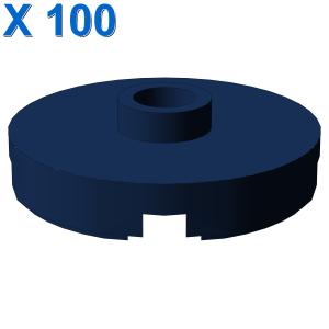 PLATE ROUND W. 1 KNOB X 100