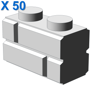 Profile brick 1x2 single gro. X 50