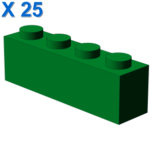 BRICK 1X4 X 25
