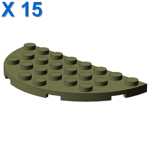 1/2 CIRCLE PLATE 4X8 X 15