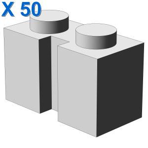 BRICK 1X2 W. GROOVE X 50