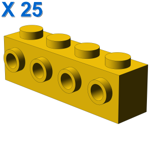 BRICK 1X4 W. 4 KNOBS X 25