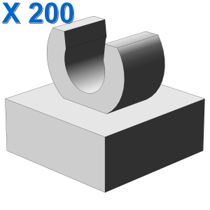 PLATE 1X1 W. UP RIGHT HOLDER X 200