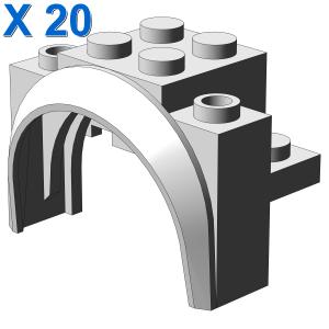 BRICK W/ARCH 2X4X2 1/3 X 20