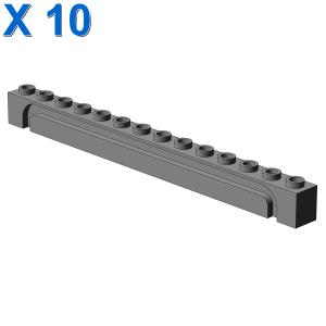BRICK 1X14 W. GROOVE X 10