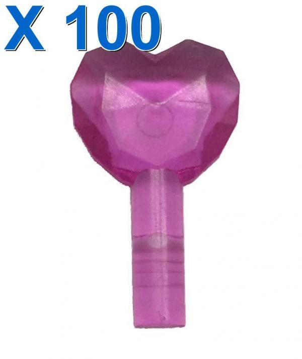 HEART W/ Ø3,2 SHAFT X 100