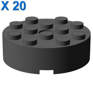 BRICK 4X4 ROUND W. Ø4.9 W. KL. X 20