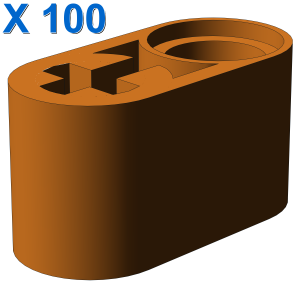 BEAM 1X2 W/CROSS AND HOLE X 100
