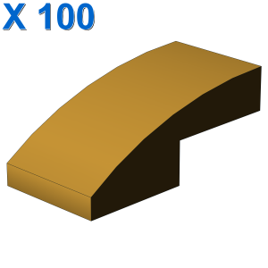 PLATE W. BOW 1X2X2/3 X 100