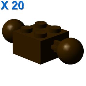 BRICK 2X2 W. 2 BALLS Ø 10,2 X 20