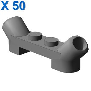 Plate 1x4x2/3 w. tube X 50
