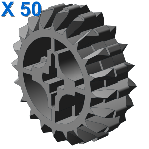 DOUBLE CONICAL WHEEL Z20 1M X 50