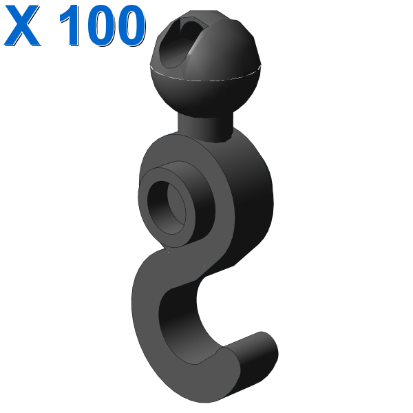 HOOK W. BALL 1X3 X 100