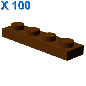 PLATE 1X4 X 100