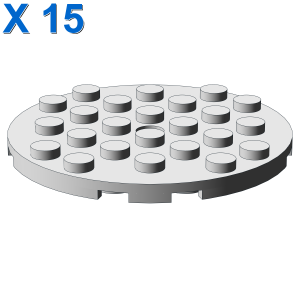PLATE 6X6 ROUND WITH TUBE SNAP X 15