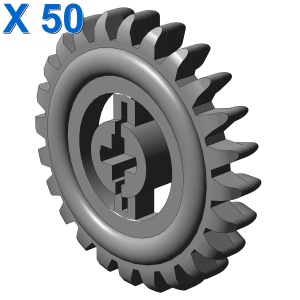 CROWN- AND GEAR WHEEL Z24 X 50