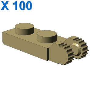 PLATE 1X2 W/FORK/VERTICAL/END X 100