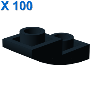 PLATE W/ HALF BOW INV. 1X2X2/3 X 100