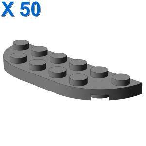1/2 CIRCLE PLATE 2X6 X 50