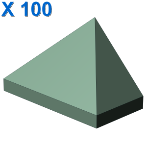 END RIDGED TILE 1X2/45° X 100
