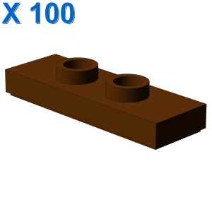 Modified 1 x 3 with 2 Studs (Double Jumper) X 100
