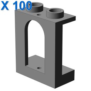 WALL 1X2X2 W. BOWED SLIT X 100