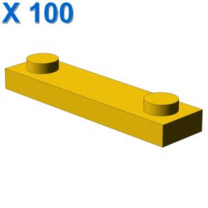 PLATE 1X4 W. 2 KNOBS X 100