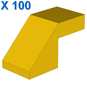 Slope 45 2 x 1 with Cutout without Stud X 100