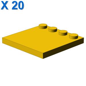 PLATE 4X4 W. 4 KNOBS X 20