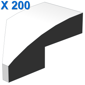Wedge 2 x 1 with Stud Notch Right X 200
