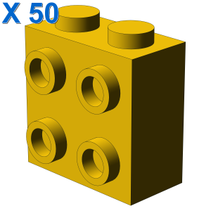 BRICK 1X2X1 2/3 W/4 KNOBS X 50