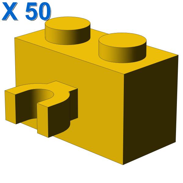 BRICK 1X2 W. HORIZONTAL HOLDER X 50