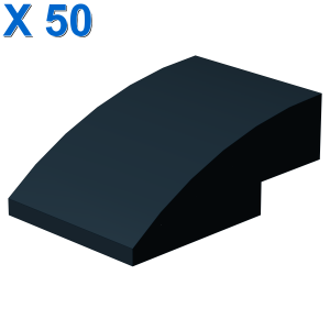 Brick w/half bow 2x3 w/cut X 50