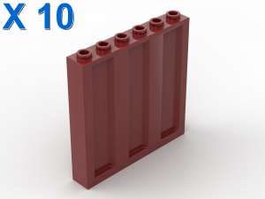 WALL 1X6X5 CONTAINER X 10
