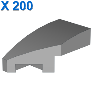 Wedge 2 x 1 with Stud Notch Left X 200