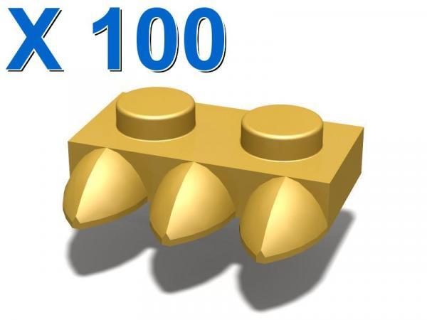 1X2 PLATE WITH 3 TEETH X 100