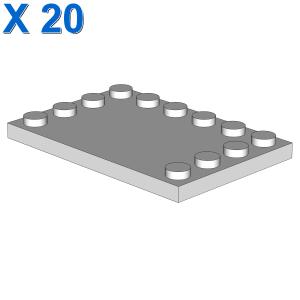 PLATE 4X6 W. 12 KNOBS X 20