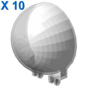 Dome ø47.84 w. combi hinge X 10